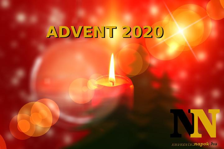 Mikor van 2020-ban advent első napja, advent első vasárnapja?
