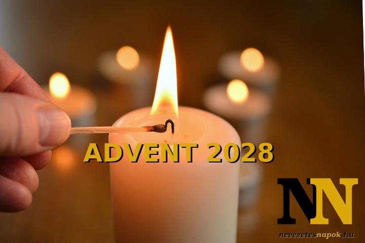 Mikor van 2028-ban advent első napja, advent első vasárnapja?