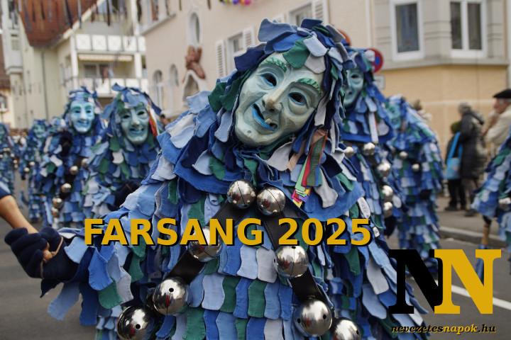Mikor van farsang 2025-ben? A farsangi időszak.