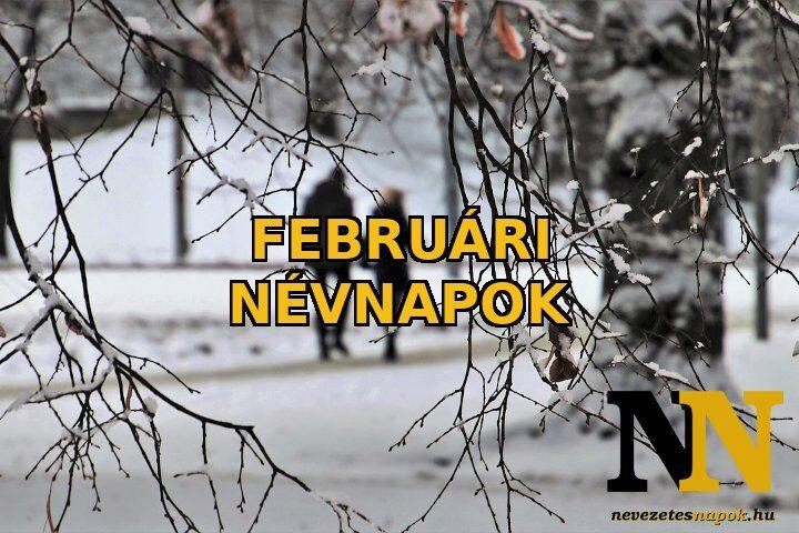 Februári névnapok