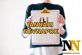 Januári névnapok