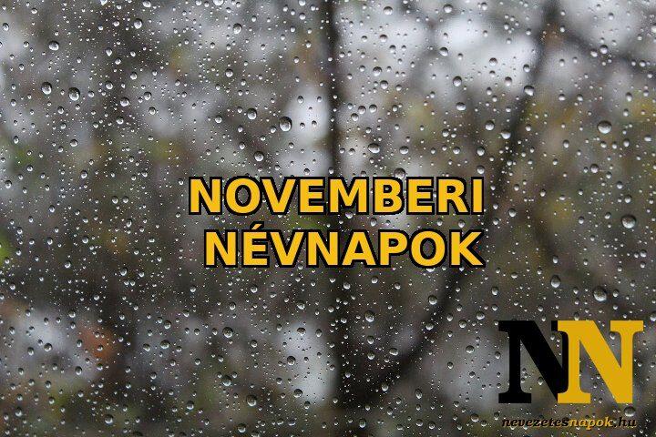Novemberi névnapok