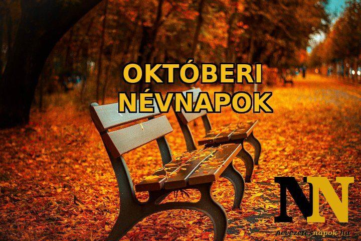Októberi névnapok