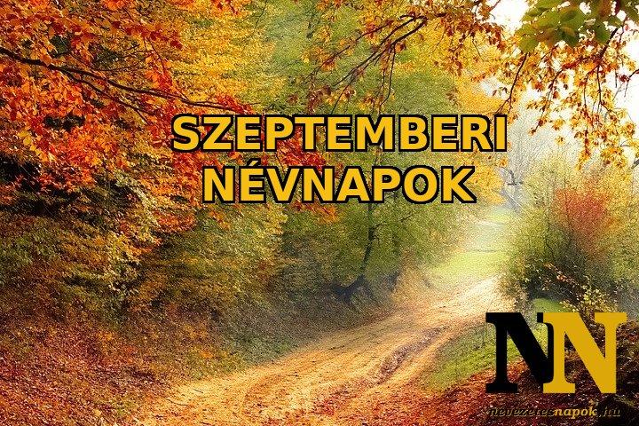 Szeptemberi névnapok