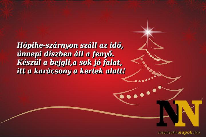 Karácsonyi köszöntők: Hópiheszárnyon...