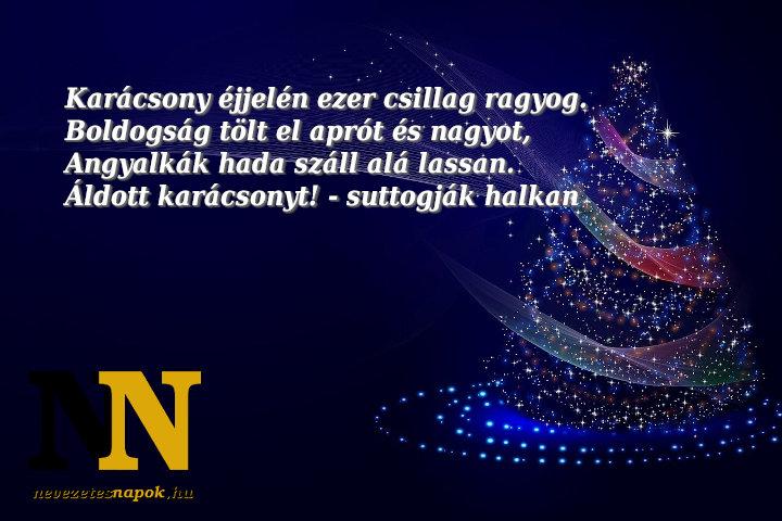 Karácsonyi köszöntők: karácsony éjjelén...