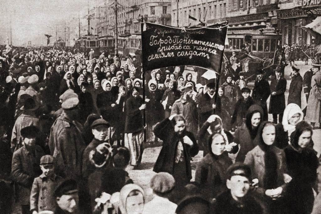 Nőnapi tüntetés 1917 március 8-án Oroszországban