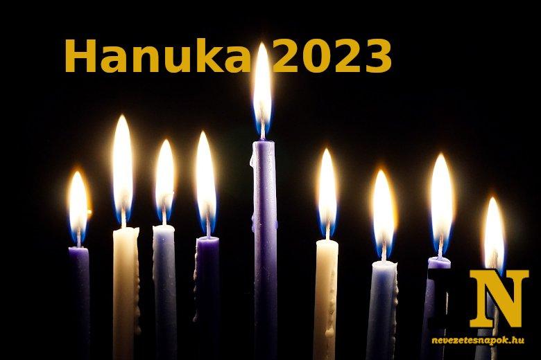 Mikor lesz hanuka 2023-ban?