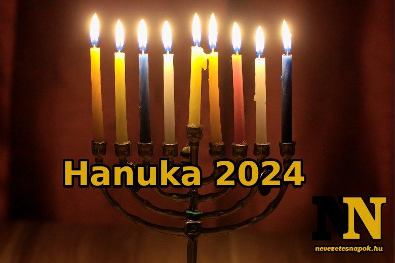 Mikor lesz hanuka 2024-ben?