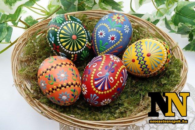 Húsvéti tojáskosár - asztaldísz az ünnepek alatt